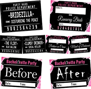 Reversible Bachelorette Mugshot Signs - (20 Cards / 40 Designs) by ANF BRANDS
