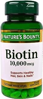 Nature's Bounty Biotin 10, 000 Mcg, Rapid Release Softgels 120 Ea (Pack of 3)