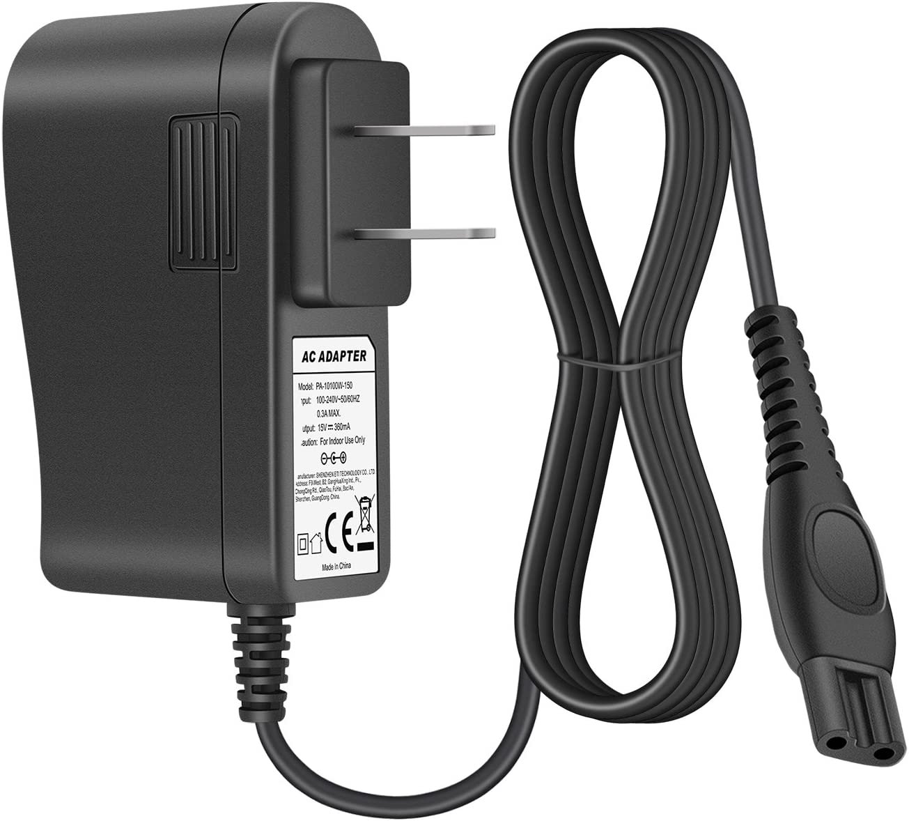 Sale item POWSEED 15V AC NEW Power Adapter Norelco Shaver Charger Philips for