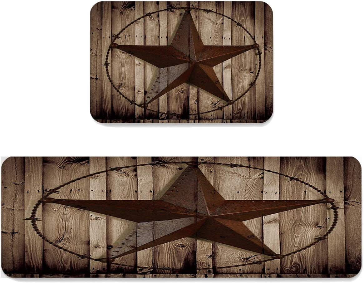SUN-Shine Farmhouse Western Texas Star Rug on Kitchen Max 72% OFF Wood 5% OFF Plank