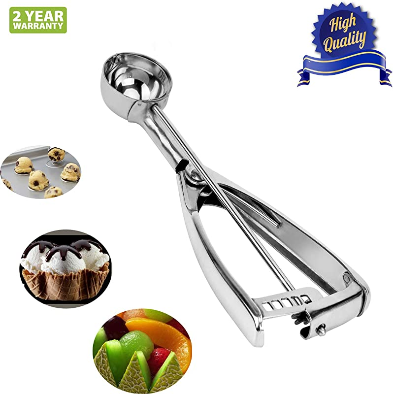 FanHomcy 18 8 Stainless Steel Cookie Scoop For Baking Small Size Durable Cookie Dough Scooper 1 Tablespoon