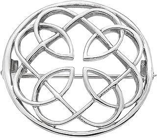 Heritage Spilla in argento Sterling, in stile celtico, rotonda