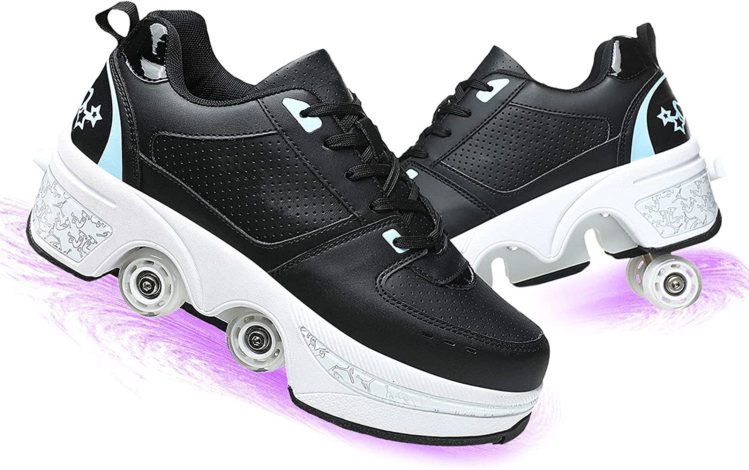 NNZZY Multi-Purpose Max 67% OFF 2-in-1 Double-Row Skates Deformation Roller Excellence