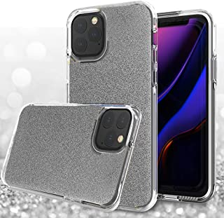 Anbel Design iPhone 11 Pro Max 6.5''Case, Makeup Glitter Sparkle Bling Case [Three Layer] for Women [Supports Wireless Charging] for iPhone 11 Pro Max 6.5''(2019)(Black)