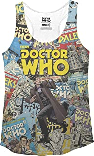 Ripple Junction Doctor Who Comic Covers Juniors Racerback Tank