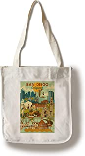 Lantern Press San Diego, California - Geometric (100% Cotton Tote Bag - Reusable)