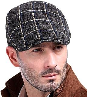 Men s Newsboy Gatsby Hat Vintage Beret Flat Ivy Cabbie Driving Hunting Cap  for Boyfriend Gift c827fc721ba3