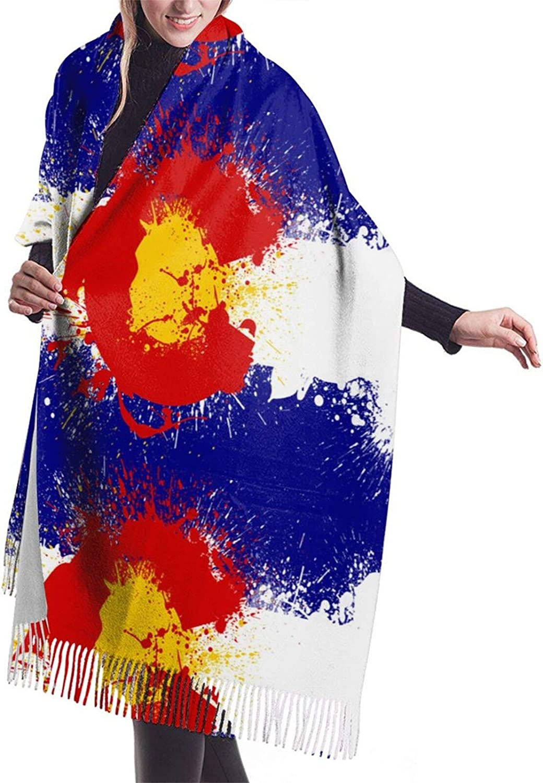 Colorado Flag Cashmere Feel Scarf Lightweight Soft Scarfs For Boys Girls Creative Warm Cold Weather Blanket Scarf