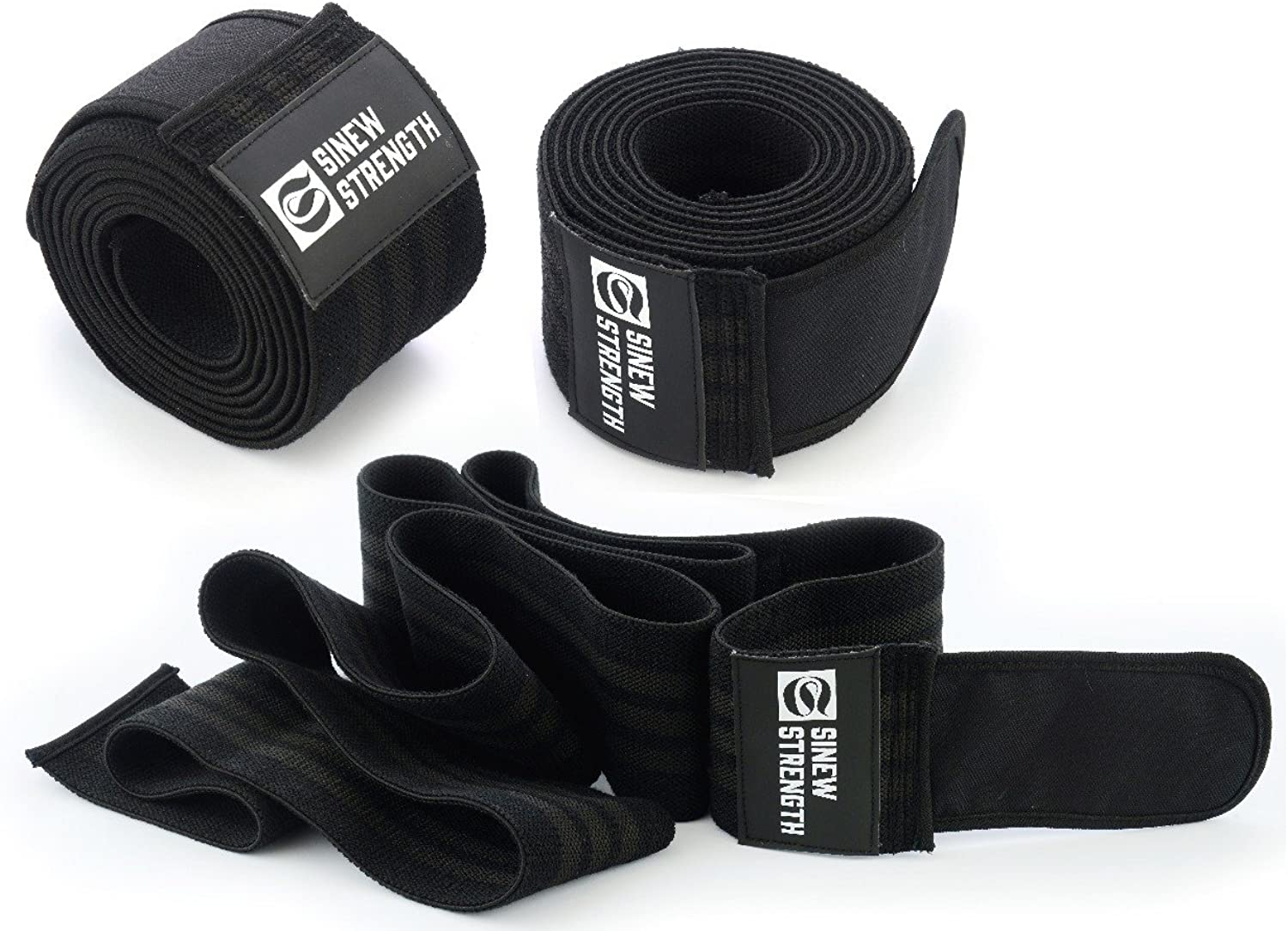 SINEW STRENGTH Knee Wraps (Pair)Knee Support for Weight Lifting, Powerlifting, Bodybuilding