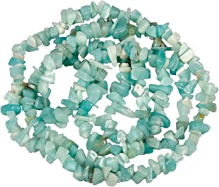 Nupuyai Chips Gemstone Loose Beads for Jewelry Making, Polishd Stone Beads Strands 33 inches, Amazonite