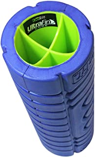 "GoFit Deep Tissue Muscle Roller - 12"" Go Roller w/ Ultra Fin Core & Myofascial Release Ball"