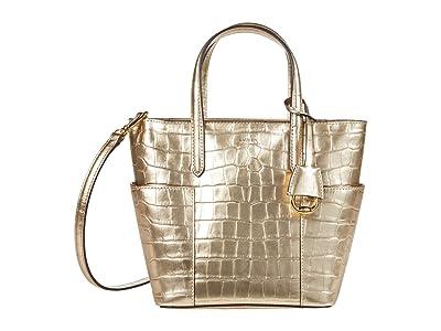 LAUREN Ralph Lauren Carlyle 20 Crossbody (Warm Gold) Handbags