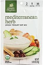 Simply Organic Greek Yogurt Dip Mix, Mediterranean Herb, 1 Ounce (Pack of 12)