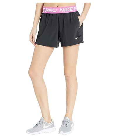 Nike Flex Shorts 4 Essential (Black/Active Fuchsia/White) Women