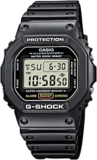 Casio Men's G-Shock Quartz Watch with Resin Strap, Black, 20 (Model: DW5600E-1V)