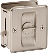Ives 991B619 Sliding Door Lock, Satin Nickel