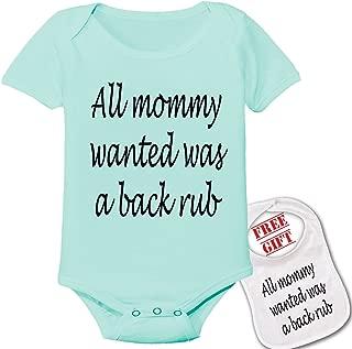 All Mommy Wanted was a Backrub -Cute Custom Baby Bodysuit Onesie & Matching bib