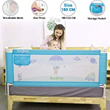 Baybee Bed Rail Guard for Baby Safety-Portable and Foldable Full Bed Rail for Kids (Blue, 180x63 cm)