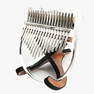 Acrylic Clear Kalimba Thumb Piano 17 Keys Musical Instruments, Mbira Finger Piano Portable Musical Instrument Gifts for Kids and Adults Beginners