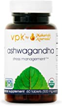 Organic Ashwagandha | 60 Herbal Tablets - 500 mg ea. | Stress Management™ | Promotes Stamina & Energy