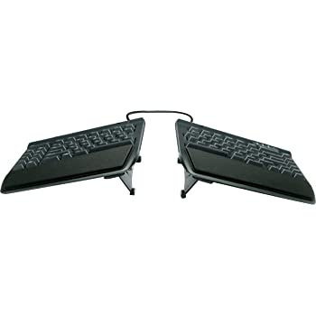 "KINESIS Freestyle2 Ergonomic Keyboard w/ VIP3 Lifters for PC (9"" Separation) (KB820PB-US)"