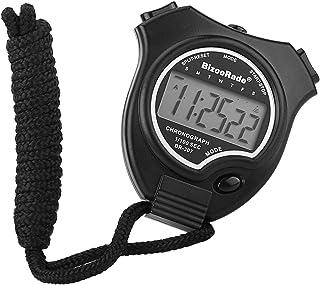 BizoeRade Cronómetro, Fácil Cronómetro Pantalla Grande Mano Held Digital Cronómetro para Sports Entrenamiento, Negro