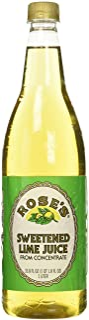 Rose's Sweetened Lime Juice, 1 Liter (33.8 Fluid Ounces) Plastic Bottle (Pack of 2)