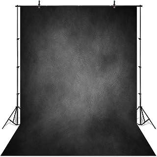 comophoto waschbar Fotografie Hintergrund 5x 2,1Neugeborene schwarz Farbe Foto Hintergrund Studio Prop