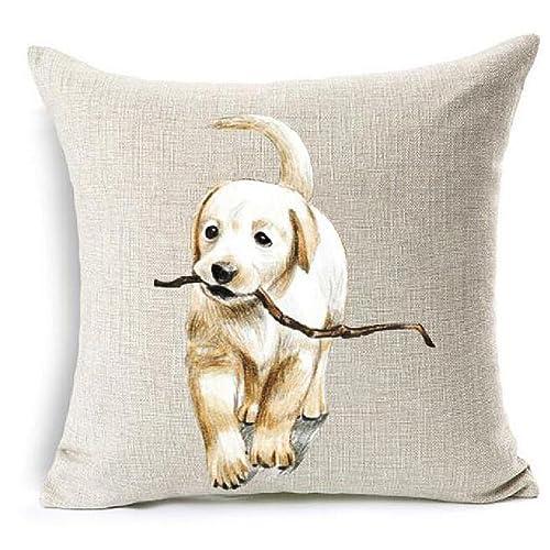 Table & Sofa Linens Decoruhome Christmas Cotton Linen Pillow Cover Cartoon Dachshund Dogs Cushion Cover Decorative Throw Pillow Case Sofa Home Decor Traveling Home Textile