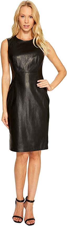 PU Sheath Dress