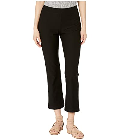 Eileen Fisher Petite Flare Ankle Pants (Black) Women