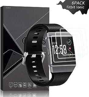 JKPNK Fitbit Ionic Screen Protector [6 Pack], Screen Protector[Anti-Glare] Full Coverage HD Anti-Scratch [Bubble-Free] Screen Protector for Fitbit Ionic
