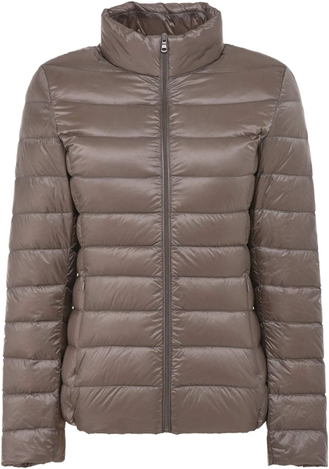 Women's Warm Down Jacket Women's Short Quilted Outerwear Jacket with Pocket