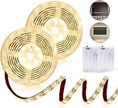 مصابيح LED LED تعمل بالبطارية دافئة بيضاء 3000K IP65 مقاومة للماء LED LED شريط إضاءة يعمل بالبطارية مع 240 لمبة LED خلفية ...