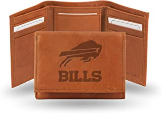 Rico Industries Men's Embossed Leather Trifold Wallet