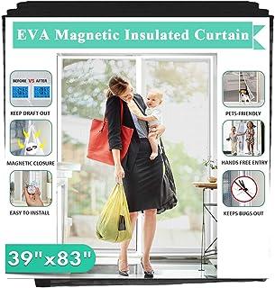 """Magnetic Insulated Door Fit Doors Up to 36""""x82"""", IKSTAR EVA Thermal Door Cover.."""