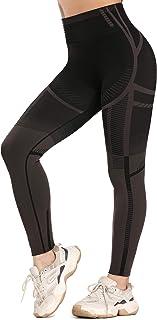 Weant Leggins Sportivi Donna Vintage Yoga Pantaloni Sportivi Donna Grigio Eleganti Leggings Sport Opaco Fitness Spandex Palestra Pantaloni Cropped Leggins Push Up con Tasche