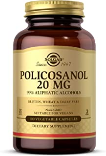 Solgar Policosanol 20 mg, 100 Vegetable Capsules - Supports Heart Health - General Wellness - Vegan, Gluten Free, Dairy Fr...