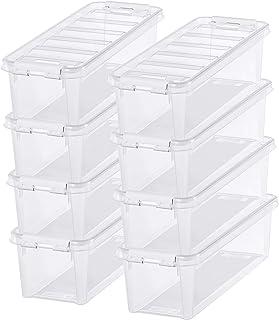 Lot de 8 Petites Boîtes de Rangement - Rangez Votre Maison avec Style et Praticité - Plastique - Transparent - Classic 4 -...