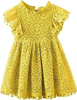 2Bunnies Girl Vintage Lace Pom Pom Trim Birthday Party Dress