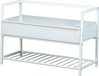 Inter Link Meuble à Chaussures, Blanc, 90 x 39 x 61 cm