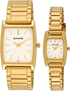 Sonata Pairs Analog Dial Watch White