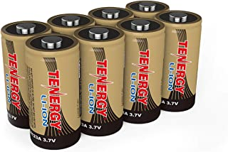 Arlo Certified: Tenergy 650mAh 3.7V Li-ion Rechargeable Battery for Arlo Security Cameras (VMC3030/VMK3200/VMS3330/3430/3530) RCR123A Batteries UL UN Certified 8 Pcs