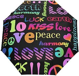 rodde Parapluie Saint Valentin t'aime coloré Auto Ouvert Fermer Parapluie Pluie Soleil