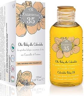 Olio di Calendula 150 ml Dulàc, 100% Naturale, Olio Calendula Ideale come Olio Neonato, Olio Baby Naturale con Vitamina E ...