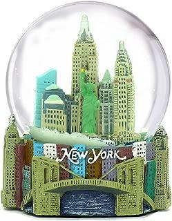 Mini New York City Snow Globe (2.5 Inch) NYC Skyline in This Souvenir Figurine with Statue of Liberty, (45mm Globe)