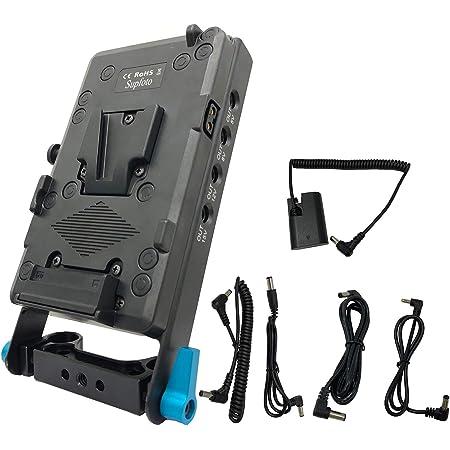 f/ür Z-CAM E2-S6 E2-F6 E2-F8 und TERADEK HEDBOX UNIX-0B V-Mount Akkuplatte mit 3x D-Tap und USB