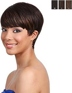 BOBBI BOSS Human Hair Wig - MH1212 CUTIE (# 1B - Off Black)
