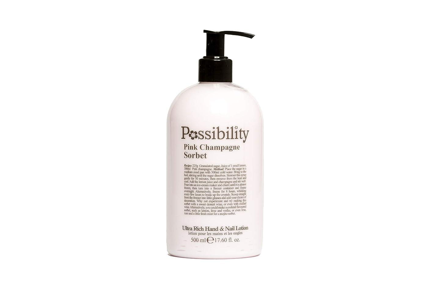 足首努力する落胆させるPossibility(ポッシビリティ) ウルトラリッチ ハンド&ネイルローション ピンクシャンパンソルベ