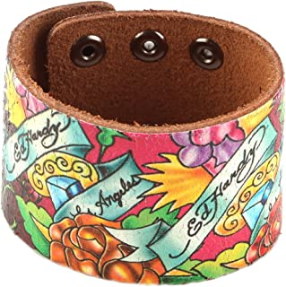 ed hardy leather bracelet
